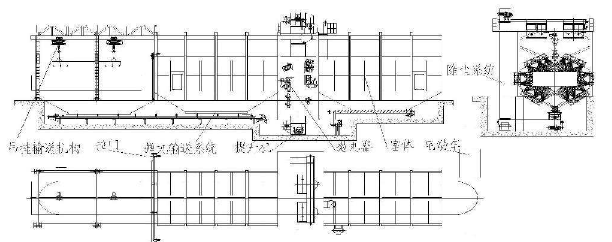 抛丸机的机械结构如图1所示